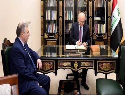 الرئيس برهم صالح ورئيس الحكومة المكلف محمد توفيق علاوي