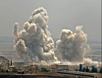 النظام يقصف مناطق بريف حلب ارشيفية