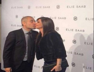 41ccb3203 بالصور: إليسا تشيد بإيلي صعب وتعبر عن امتنانها بقبلة على شفتيه