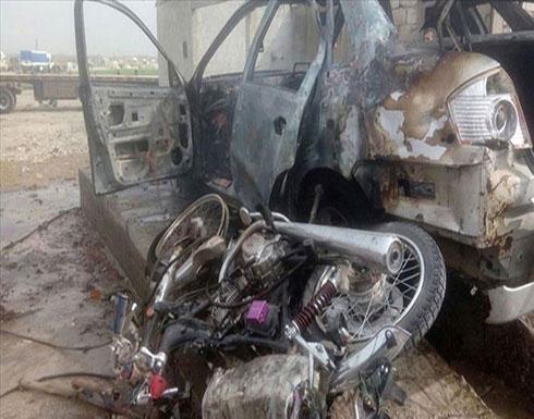 شاهد :  انفجار دراجة مفخخة شمالي سوريا