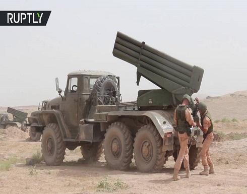 """شاهد : منظومات """"غراد"""" و""""أوراغان"""" الروسية تستهدف مواقع في طاجيكستان"""