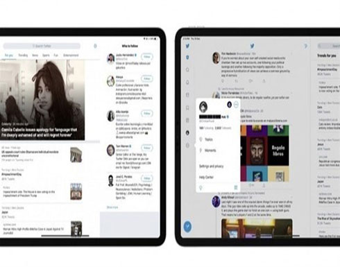 تصميم جديد لتطبيق تويتر لأجهزة آي باد