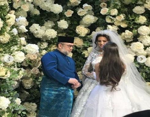 بالصور : ملكة جمال موسكو تعتنق الاسلام وتتزوج ملك ماليزيا وترتدي الحجاب