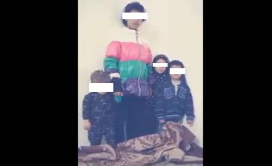 """""""حماية الاسرة"""" تحدد هوية شاب ظهر في فيديو يهدد حياة اخوته بفتح اسطوانة الغاز عليهم"""
