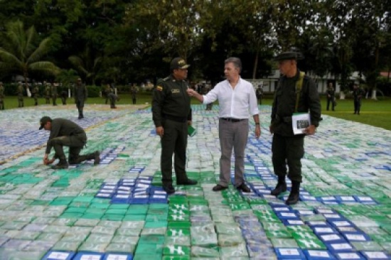 شاهد: ضبط أكبر شحنة كوكايين في تاريخ كولومبيا