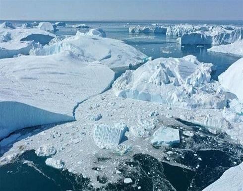 """العثور على """"نهر مظلم"""" تحت جليد جزيرة"""