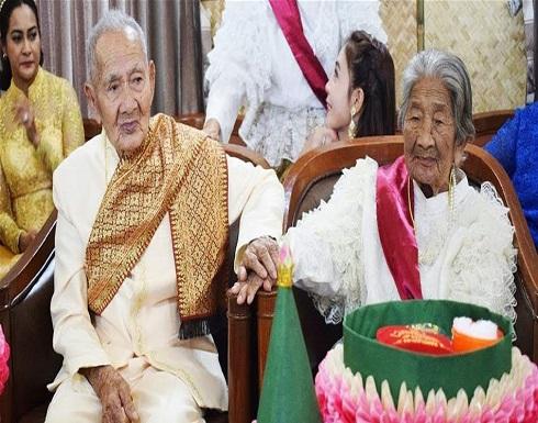رغم بلوغه الـ 100 عام.. تزوّج من صديقته البالغة 96 عاماً
