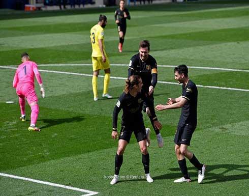 بالصور.. جريزمان يقود برشلونة لوصافة الليجا بثنائية ضد فياريال