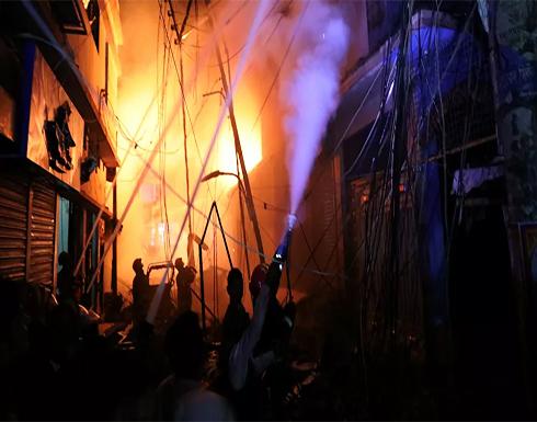 مصر... اندلاع حريق هائل يسبب خسائر في سوق بمنطقة حلوان... فيديو