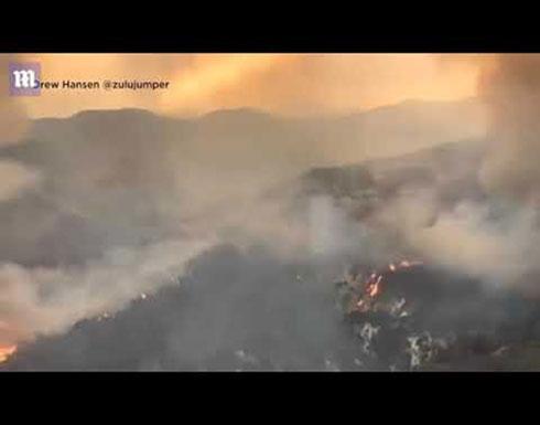 حريق ضخم في الولايات المتحدة