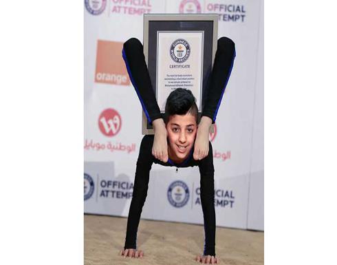 محمد الشيخ طفل من غزة يدخل موسوعة غينيس في حركات الجسم والليونة