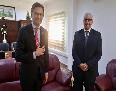 باشاغا يبحث مع سفير ألمانيا إبعاد المرتزقة الروس عن ليبيا