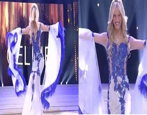 بالفيديو .. ملكة جمال تسقط على المسرح بشكل مثير للسخرية أثناء التتويج