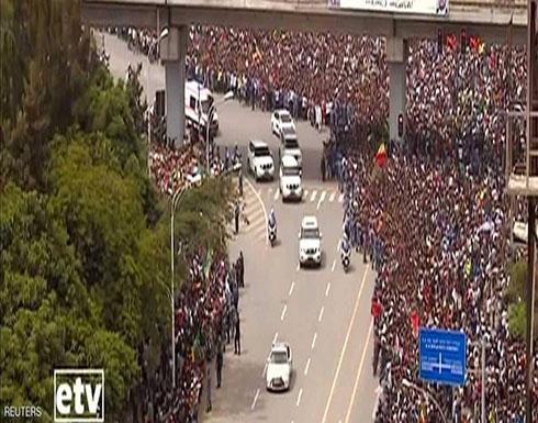 بالفيديو.. إثيوبيا تحتفي شعبيا برئيس إريتريا