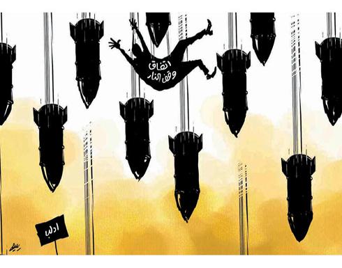 القصف الروسي على ادلب