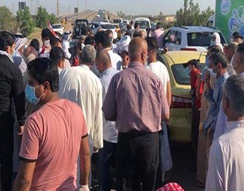 شاهد : قتيلان بمظاهرات قرب بغداد بعد قمعها من الأمن
