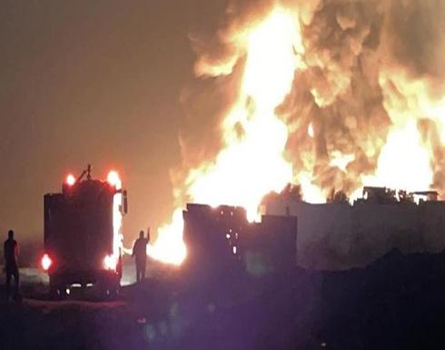 بالفيديو.. انفجار ضخم على الحدود اللبنانية السورية