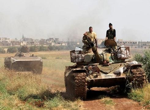 استهداف طائرة للنظام والمعارضة تستعيد مناطق بريف حماة