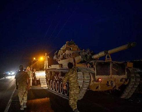 """شاهد : تركيا تواصل """"نبع السلام"""" وتبدأ تحريك القوات البرية"""