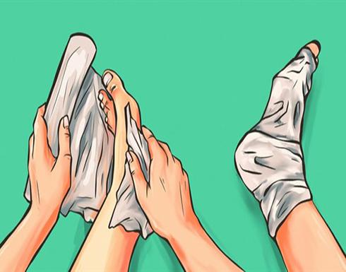 النتيجة مذهلة.. لفي قدميك بورق الألمنيوم لمدة ساعة