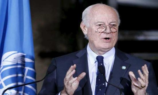 دي ميستورا: محادثات السلام السورية لن تحيد عن قرار الأمم المتحدة