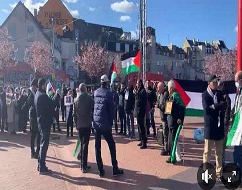 صور : وقفة تضامنية مع القدس في كوبنهاجن ضد ممارسات الاحتلال