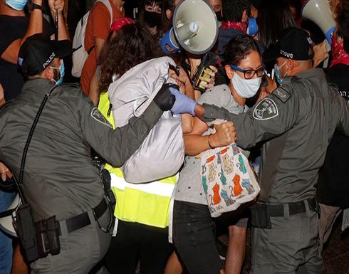 شاهد : مظاهرات حاشدة في تل أبيب ضد نتنياهو