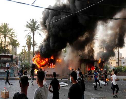 شاهد : تجدد الاحتجاجات في ذي قار على خلفية حريق مستشفى الحسين التعليمي