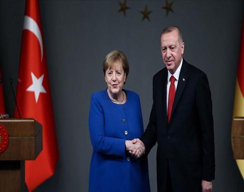 أردوغان وميركل يبحثان التطورات في ليبيا وسوريا