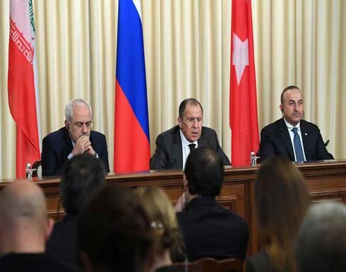 اجتماع وزراء خارجية روسيا وإيران وتركيا السبت لمناقشة الوضع في سوريا