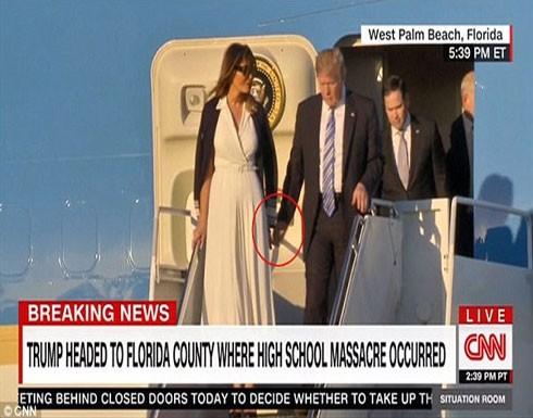 بسبب علاقاته النسائية.. ميلانيا تحرج ترامب أمام الجميع فى فلوريدا.. فيديو