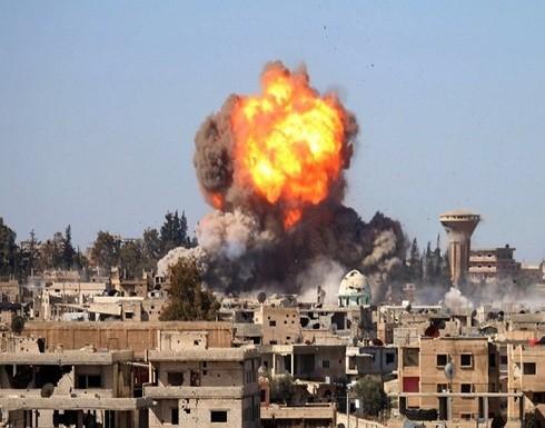 قوات النظام السوري تقصف مناطق الجنوب بالبراميل المتفجرة