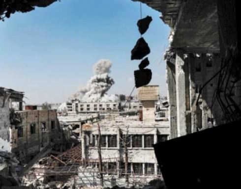 """قوات النظام تستعيد السيطرة على قرية قرب حماة ومقتل 12 مدنيا بغارة على """"حمورية"""" في ريف دمشق"""
