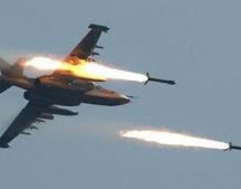 الطيران السوري يقصف عين ترما والمرج بريف دمشق