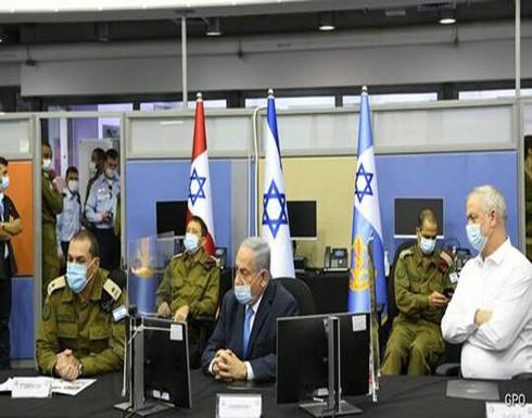 """نتنياهو يزور مقر الجبهة الداخلية ويوجه رسالة لـ""""حزب الله"""""""