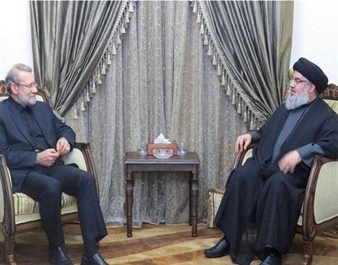 لاريجاني يختتم زيارة لبنان بلقاء نصرالله