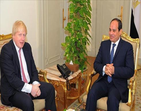 وزير الخارجية البريطاني يبحث مع السيسي التعاون في مكافحة الإرهاب