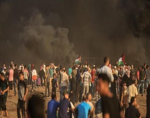 97 جريحا باعتداء الاحتلال على مسيرات العودة شرق قطاع غزة