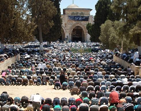 100 ألف مصل يؤدون صلاة العيد وصلاة الغائب على أرواح الشهداء الفلسطينيين