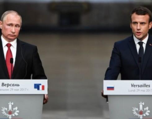 الرئيس الفرنسي: سنرد على أي استخدام للأسلحة الكيميائية بسورية