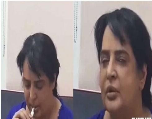 خادمة تصور ممثلة عربية مشهورة وهي تتعاطى المخدرات وتفضحها (فيديو)