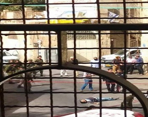 بالفيديو : شهيد برصاص الاحتلال قرب الحرم الابراهيمي