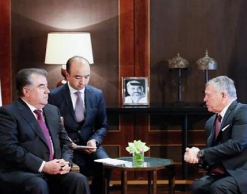 الملك ورئيس طاجيكستان يعقدان مباحثات في عمان