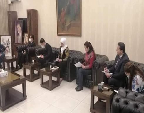 ظهور صورة أسماء الأسد بلقاء لسفير كوريا الشمالية