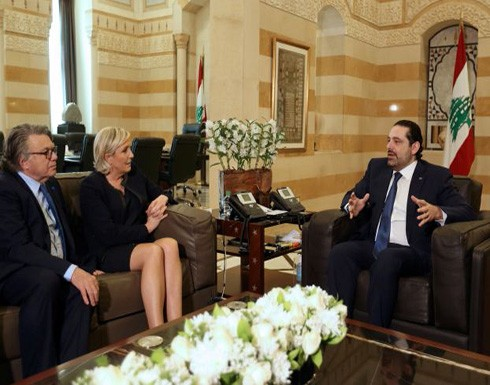 الحريري يحذر لوبان من الخلط بين الإسلام والإرهاب
