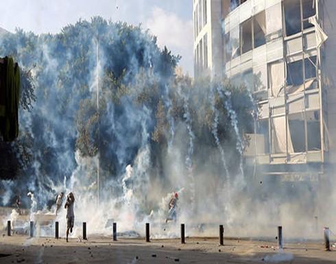 قتيل في صفوف قوات الأمن باشتباكات مع المحتجين وسط بيروت