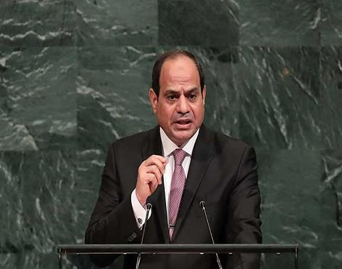 """السيسي يحث إسرائيل على أن تكرر مع الفلسطينيين تجربة السلام """"الرائعة"""" بينها وبين مصر"""