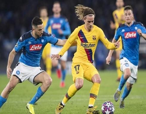 في هذا البلد قد تجري مباراة برشلونة ونابولي بدوري الأبطال