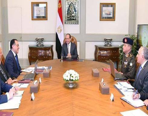 السيسي يبحث ملف سد النهضة ويطالب بحفظ حقوق مصر المائية