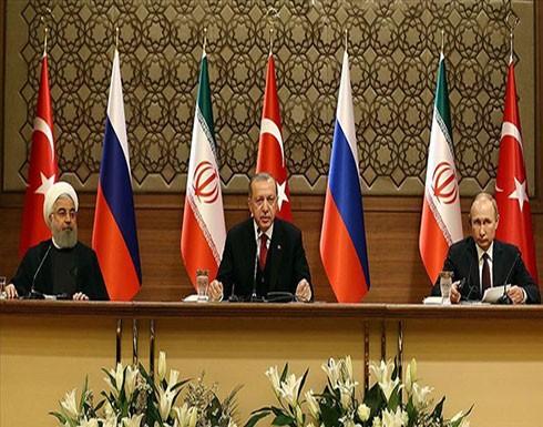 بالفيديو : قمة ثلاثية بين الرئيس اردوغان ونظيريه الروسي والإيراني حول سوريا